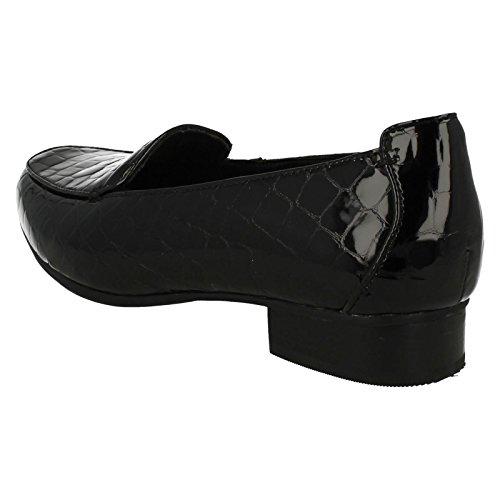 Croc UK US 8E Clarks Size Luca Ladies Black 42 Keesha Leather Patent Loafers 5W 10 Size EU Size UqAxHgCwB