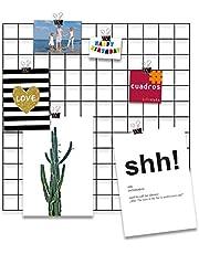 Cuadros Lifestyle Design-wandrooster 'Black Beauty' om op te hangen | modboard | roosterwand | decoratief rooster | draad | net | rek | mesh | meshboard | wandhouder | wandorganizer | fotowand