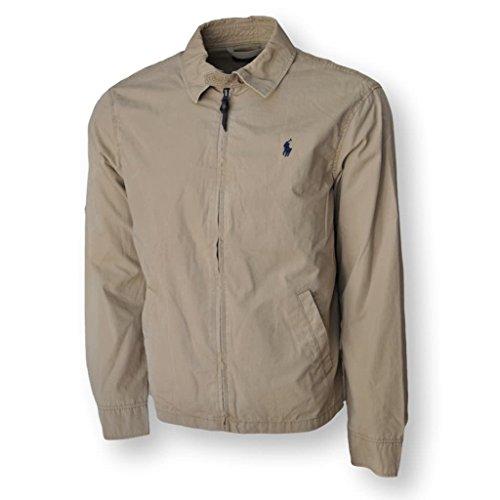 Polo Ralph Lauren Men's Landon Cotton Poplin Windbreaker Jacket, Tan, M