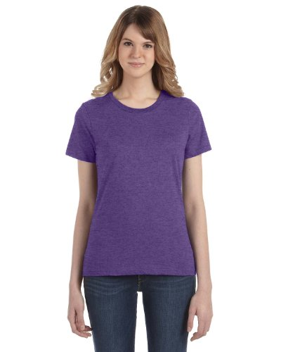 Anvil Slim T-shirt - Anvil Ladies Lightweight T-Shirt, Large, HEATHER PURPLE