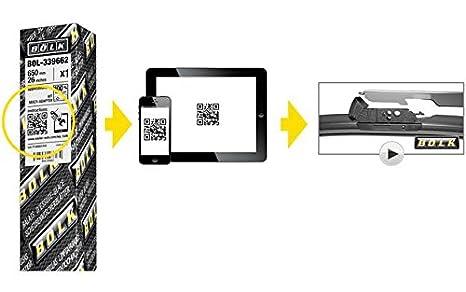 Escobilla limpiaparabrisas universal, 609-Cuenco Bolk E011024 mm: Amazon.es: Coche y moto