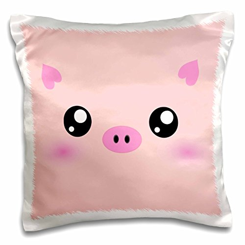 3dRose Kawaii pig face - cute pink minimalist farm animal...