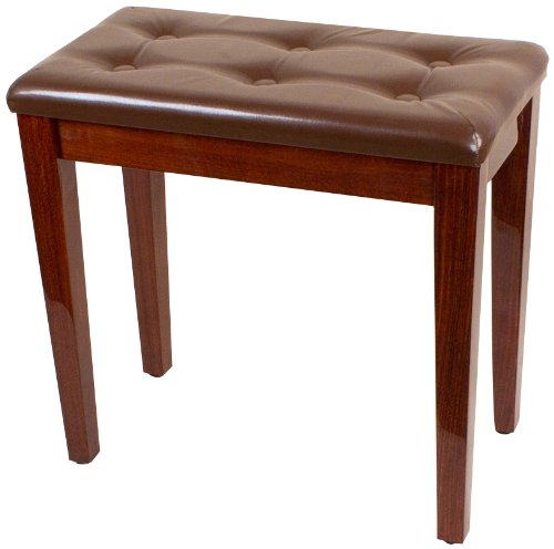 Palatino BP-090-BR Leather Padded Piano Bench, Brown