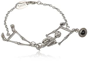 Vivienne Westwood Skeleton Palladium Colored Bracelet, 5""