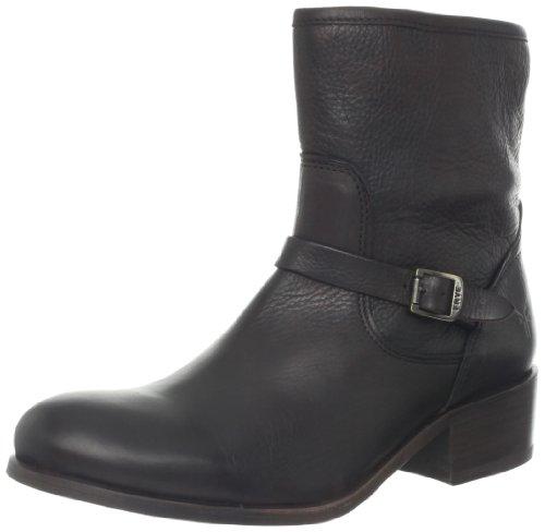 FRYE Women's Lynn Strap Short Boot, Dark Brown, 7 M US