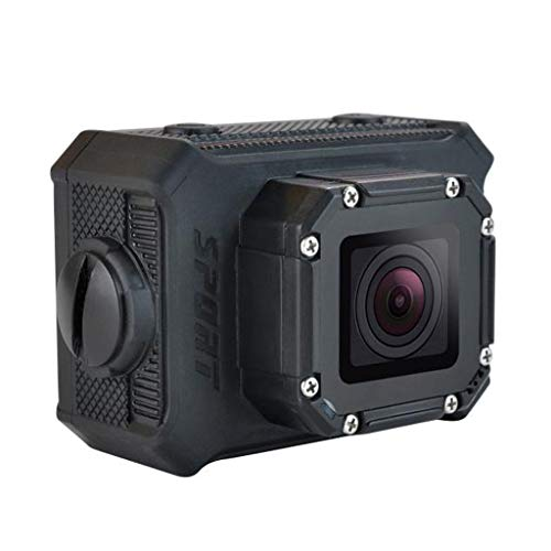 LD6000 WiFi 1080P HD Sports Action Camera Kit - App Remote Control 30m Waterproof 2.0 Inch LCD Screen 170 Degree Wide Angle 2 Rechargeable Batteries and Mounting Accessories (Black+Wi 【Ship from USA 】
