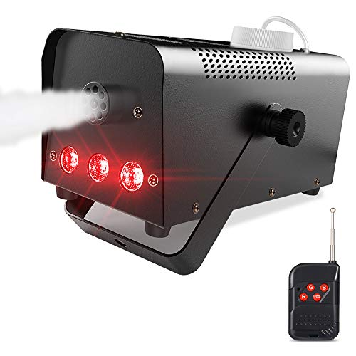 Theefun 400W Wireless Remote Control Portable Halloween and party fog machine with Built-In Multi-color LED Lights for Holidays, Weddings (