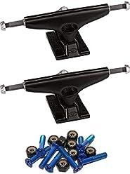 Krux Trucks Standard DLK Hollow Roses White Skateboard Trucks 5.35 Hanger 8.0 Axle with 1 Black Hardware