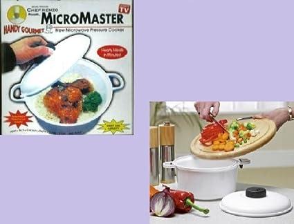 Apta para microondas Micromaster 2, 85L olla a presión + recetas de regalo y tazas