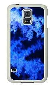 Blue phosphorescent corals Custom Samsung Galaxy S5/Samsung S5 Case Cover Polycarbonate White