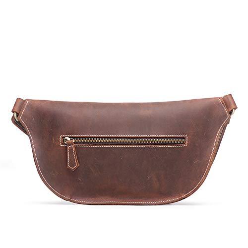 Bag Shoulder Chest Pockets Miaomiaowang Men's Messenger Women's Leather fTH0q