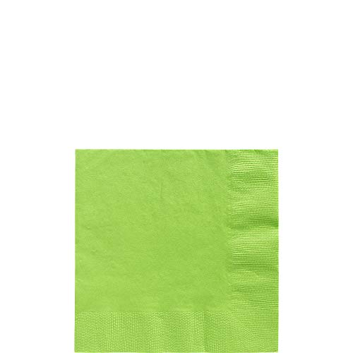 (Amscan 600013.53 Big Party Pack Beverage Napkins, 6.5