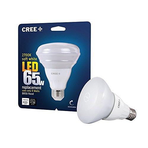 (Pack Of 4) Cree 9-watt (65w) Soft White (2700k) Br30