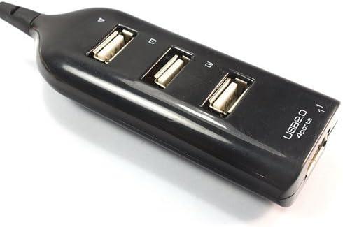 HelloTecUSA New 4 Port HIGH Speed Mini USB 2.0 HUB 4 Laptop PC