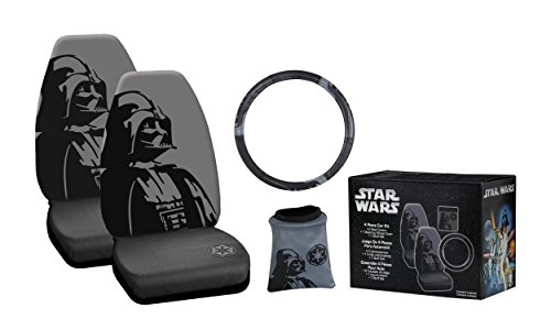 Plasticolor (006688A) Star Wars Black 'Darth Vader' 4-Piece Combo Kit (Star Wars Seat Cover Set compare prices)