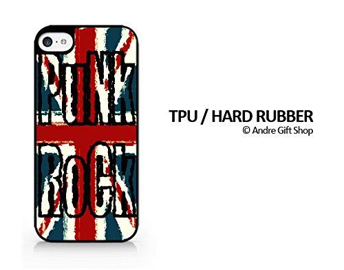 TPU / RUBBER Black Case - Punk Rock - England Flag Punk Rock - British Flag Punk Rock - iPhone 8 Plus - (C) Andre Gift Shop (One Direction British Flag)
