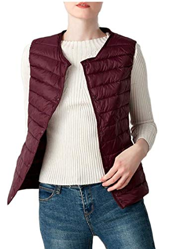 Women Down Lightweight Red EKU Vest Packable Vest Wine Outdoor Puffer 7W6nxw