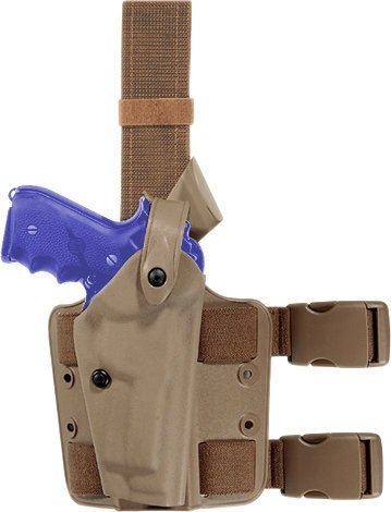 Safariland 6004 SLS Tactical Holster with Dbl Leg Straps H&K USP 45 Holster, STX Flat Dark Earth, Right (6004 Tactical Leg Holster)