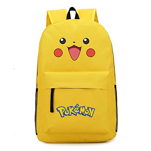 smiling-face-pikachu-printing-canvas-school-backpacks-for-teenagers-yellow