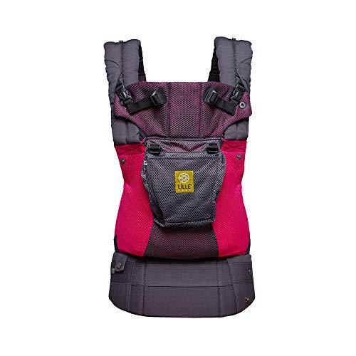 LÍLLÉbaby The Complete Airflow SIX-Position 360° Ergonomic Baby & Child Carrier, Charcoal Berry - Cotton ()