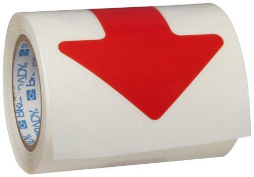 Tape Marking Red Aisle (Brady ToughStripe Nonabrasive Direction Arrows Floor Marking Tape, 5