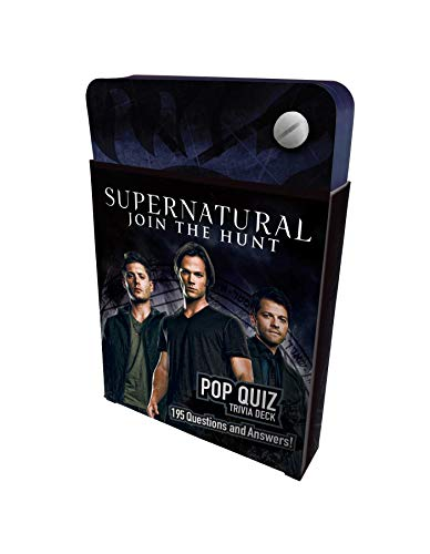 Supernatural Pop Quiz Trivia Deck (Science Fiction Fantasy) Hardcover – 3 Sept. 2019