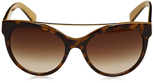 D&G Dolce & Gabbana Women's 0DG4280 Round Sunglasses, Top Havana On Gold, 57 mm by Dolce & Gabbana (Image #2)