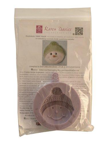 Karen Davies - muñeco de nieve 2 - formación de silicona molde para la decoración de