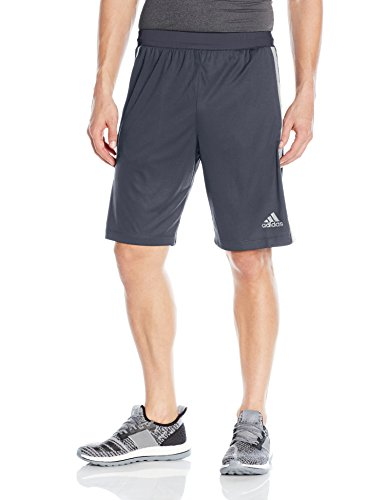 adidas Men's Designed-2-Move 3-Stripe Shorts, Dark Grey/Medium Grey, - Running Shorts Men's 3