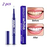 Teeth Whitening Pen (2 Pack), Teeth Whitener, Hydrogen Peroxide Teeth Stain Remover, No Sensitivity, 20+ Whitening Treatments - No Teeth Whitening Strips, No UV Light, No Trays Required, Mint Flavor, 2.5ML