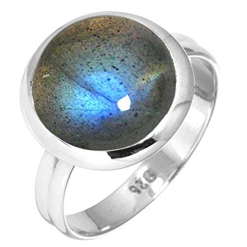 Natural Labradorite Women Jewelry 925 Sterling Silver Ring Size 6.5 from Jeweloporium