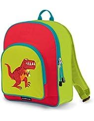 Crocodile Creek Kids Eco Dinosaur T- Rex School Backpack, Red, 14