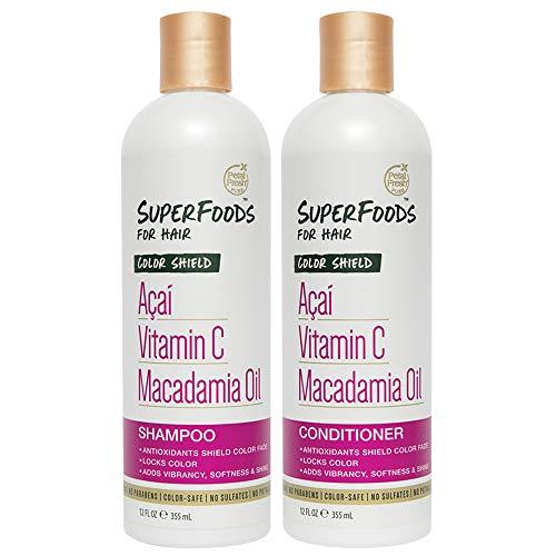 Petal Fresh SuperFoods Color Shield Shampoo & Conditioner (Açaí, Vitamin C & Macadamia Oil)   SuperFoods Beauty