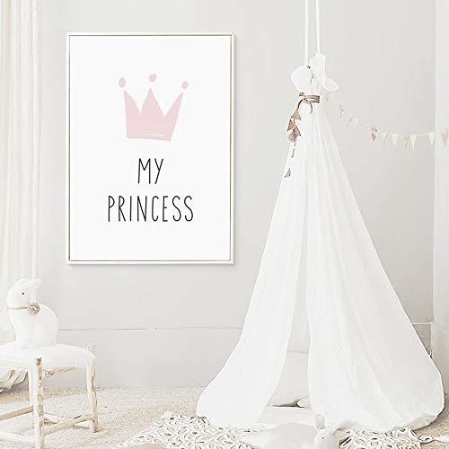 Juego de 3 Cuadros Infantiles Niña Poster 30x40 Láminas Conejo My PRINCESS LOVE 4