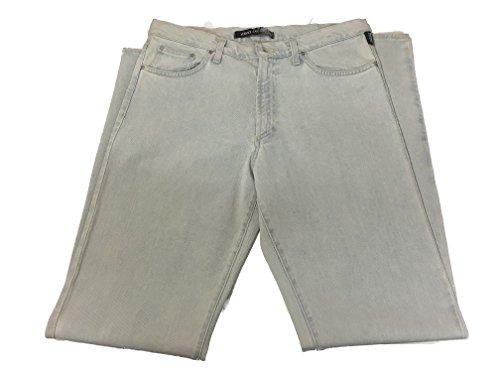 (Versace Men's 100% Cotton Italian made designer blue denim jeans (Size 34 Waist, Blue))