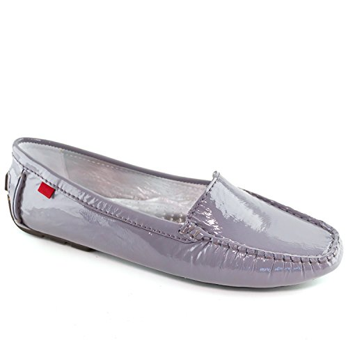 Marc Joseph New York Women's Leather Made in Brazil Manhasset Driving Style Loafer Grey Patent