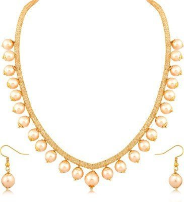 Buy Nv Jeweler Fashion Jewelry Pearl Traditional Necklace Set For