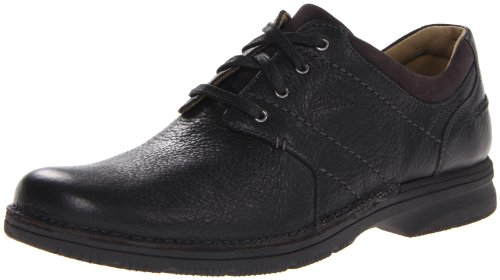 Clarks Mens Senner Place Marrone Scuro Nero Burattato