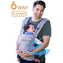 360 Ergonomic Baby Carrier - All Season Baby Sling - 6 Position, Easy Breastfeeding, No Infant Insert Needed, One Size Fits All - Adapt to Newborn, Infant & Toddler, Great Hiking Backpack Carrier