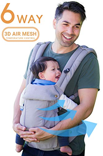 360 Ergonomic Baby Carrier - All Season Baby Sling - 6 Position, Easy Breastfeeding, No Infant Insert Needed, One Size Fits All - Adapt to Newborn, Infant & Toddler, Great Hiking Backpack Carrier from Lumiere Baby