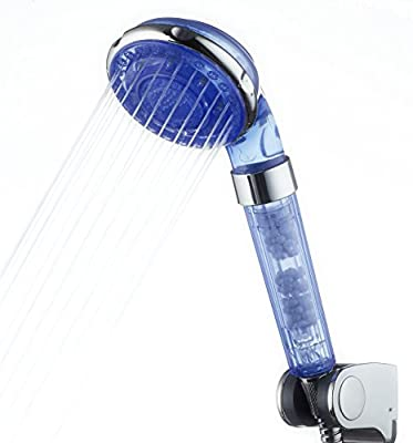 Filtered Hand Held Shower Head, from WowYourHome, Durable Housing, Mineral Balls Soften and Purify Water. 4 Spray Modes, ECO Shower (Hose Not Included)