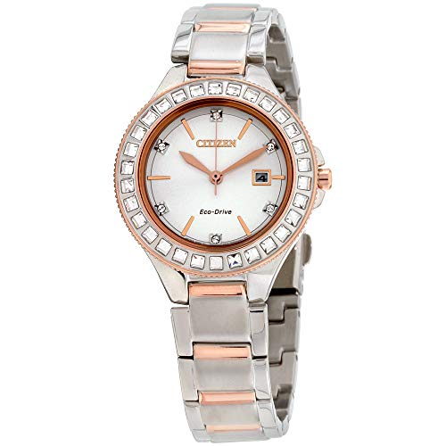 Ladies' Citizen Eco-Drive Silhouette Two-Tone Crystal Bracelet Watch ()
