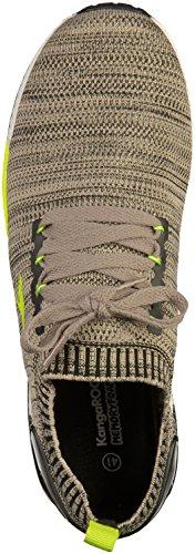 KangaROOS Unisex-Erwachsene W-590 Sneaker cream white-lime (81051-0015)