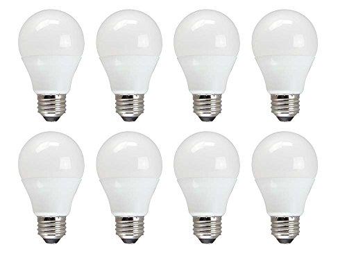 TCP 60 Watt A19 Value LED Daylight 8 Pack, Non-Dimmable Light Bulbs (Renewed)