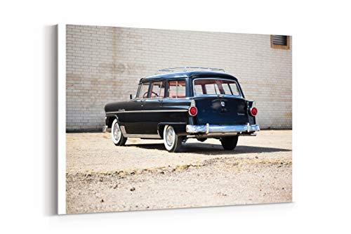 - 1955 Ford Country Sedan 6 Passenger U5 79D Stationwagon Retro - Canvas Wall Art Gallery Wrapped 12