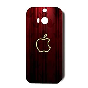 Fine Customized Luxury Logo 3D Durable Phone Case for Htc One M8 Apple Logo Phone Case