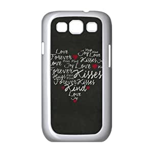 Samsung Galaxy S3 9300 Cell Phone Case White_Heart Forever Kisses Jaayw