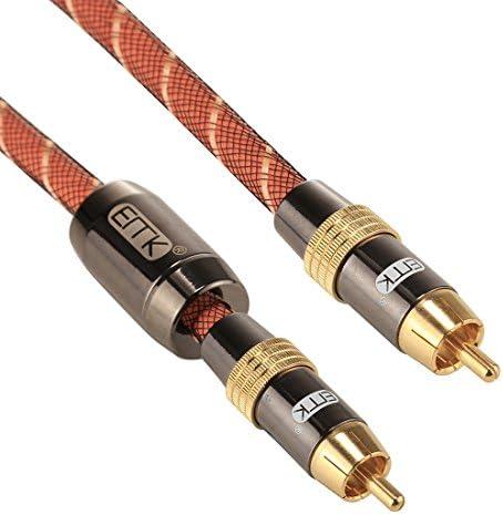 AV受信ケーブル EMK TZ/A 3メートルOD8.0mmゴールドメッキメタルヘッドRCA RCAプラグデジタル同軸接続ケーブルオーディオ/ビデオRCAケーブルへの.