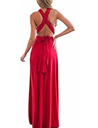 Sexyshine Women's Infinity Backless Gown Dress Multi-way Wrap Halter Cocktail Dress Bandage Bridesmaid Long Dress