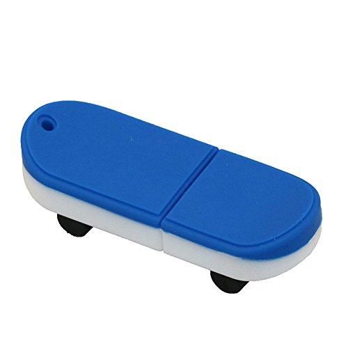 (128GB Blue Skateboard Model USB Flash Drive Pen Drive USB Flash Drives USB Stick Memory Card Flash Disk USB Drive )